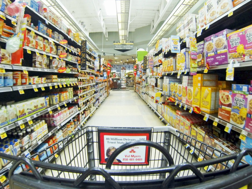 Sales at Sacramento grocery stores