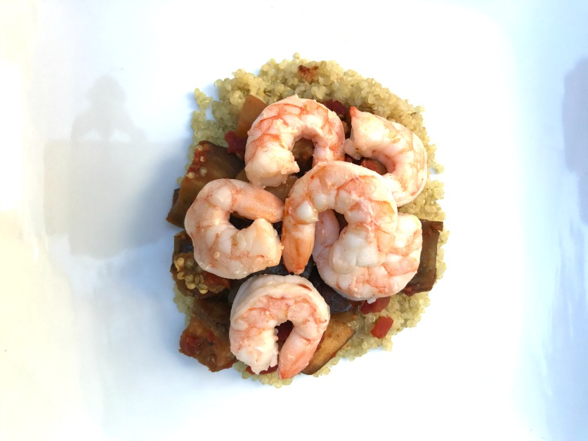 Shrimp, Eggplant, and Quinoa
