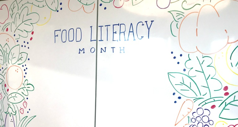 Food Literacy Month Sign